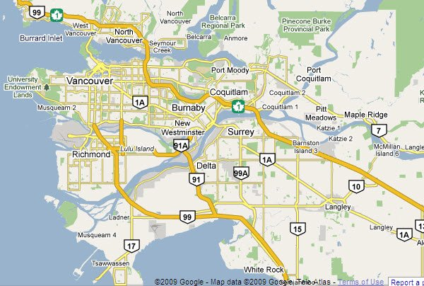 Orientation and Areas of Vancouver