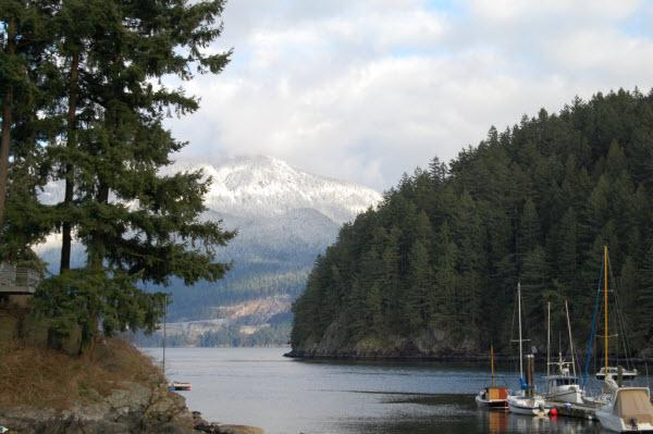 Bowen Island - Snug Cove, Bridal Veil Falls and Fish Ladder and Crippen Park